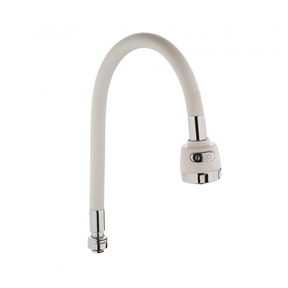 Гусак (Излив) силиконовый ZERIX SPS-01 WHITE