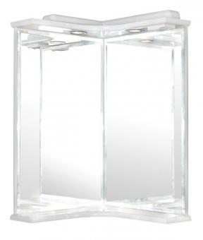 Зеркало AQUARODOS Глория угловое 45х45 см с подсветкой