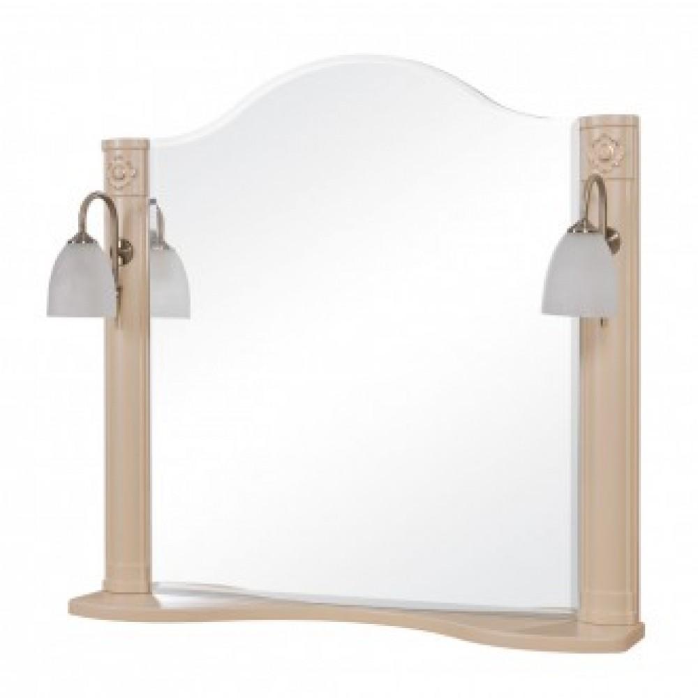 Зеркало AQUARODOS АРТ ДЕКО 100 см с двумя подсветками (айвори)