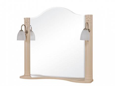Зеркало AQUARODOS АРТ ДЕКО 80 см с двумя подсветками (айвори)