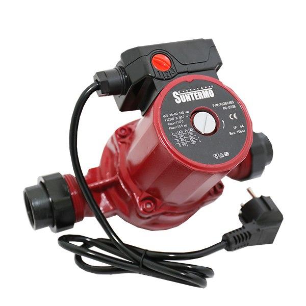 Циркуляционный насос SUNTERMO 25/60 - 180 мм, с гайками, кабель