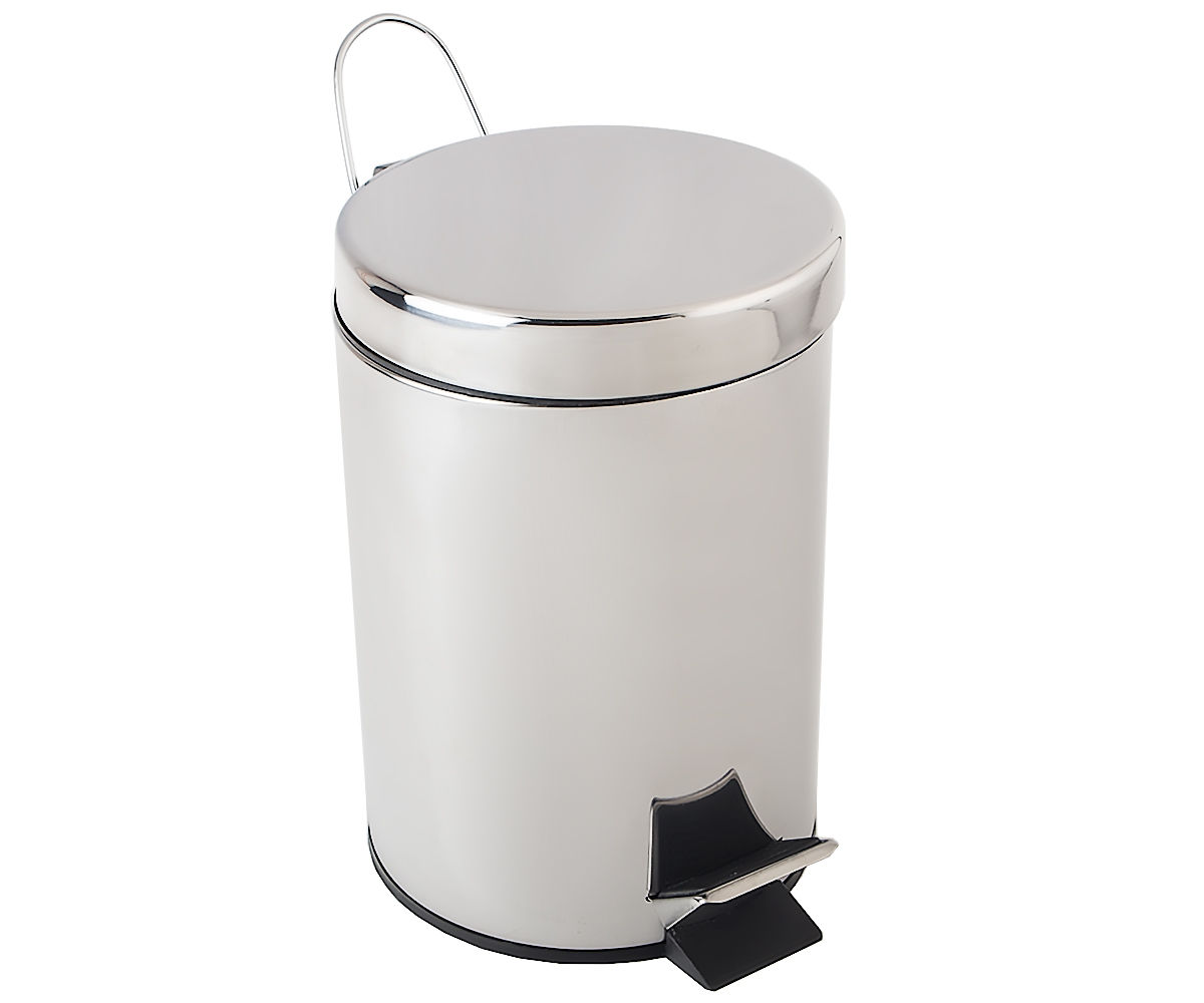 Ведро для мусора BISK 5 л, хром (00283)