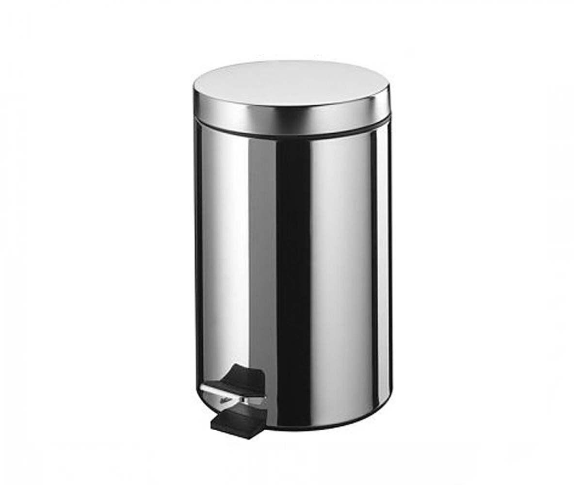 Ведро для мусора BISK 7 л, хром (00056)