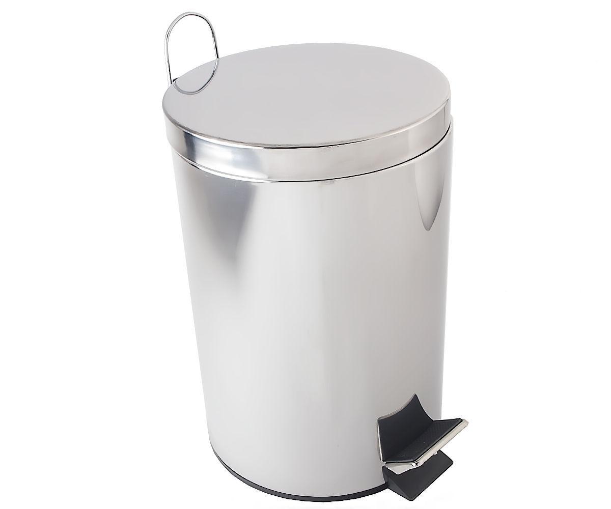 Ведро для мусора BISK 12 л, хром (00430)