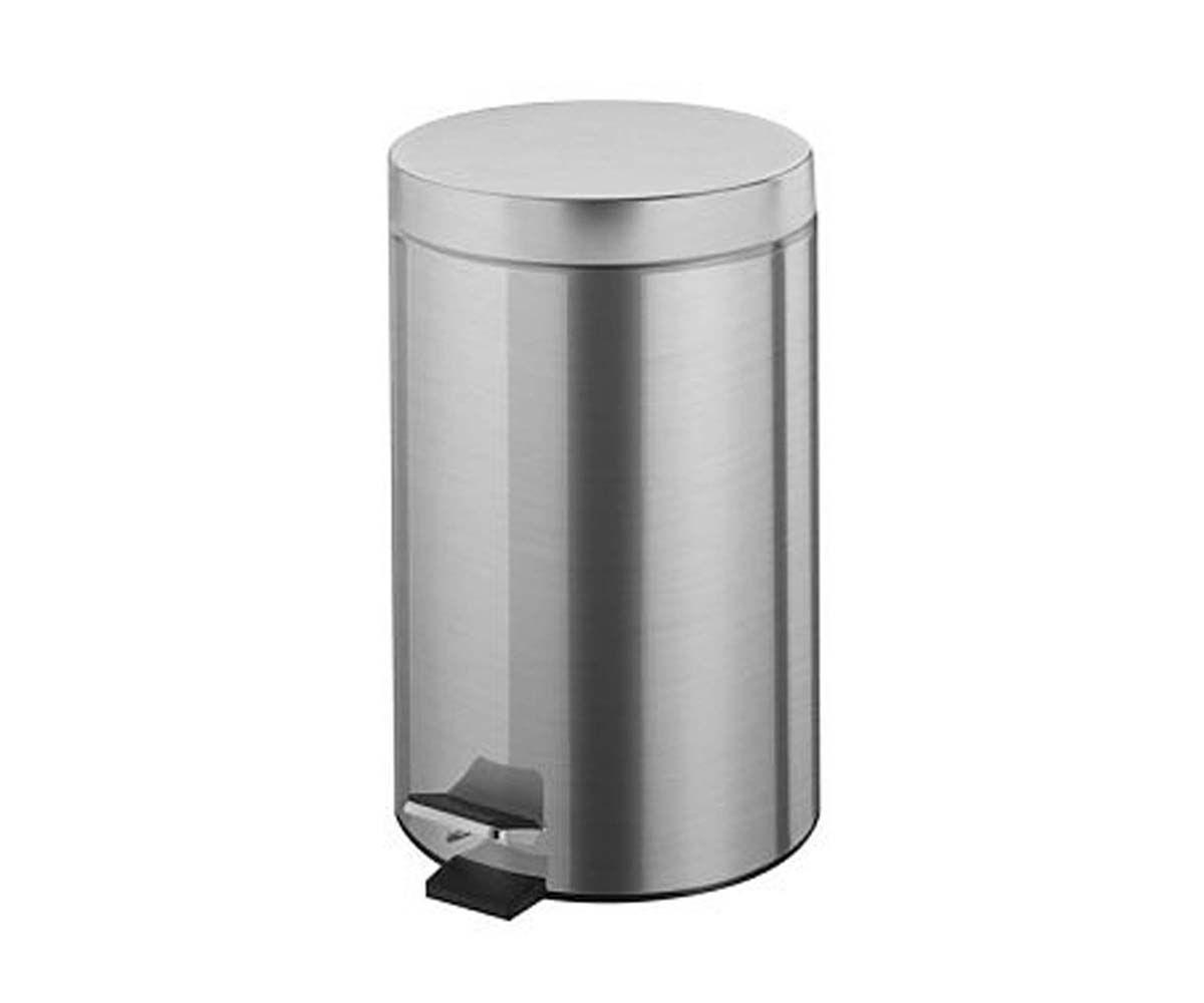 Ведро для мусора BISK 12 л, хром (00431)
