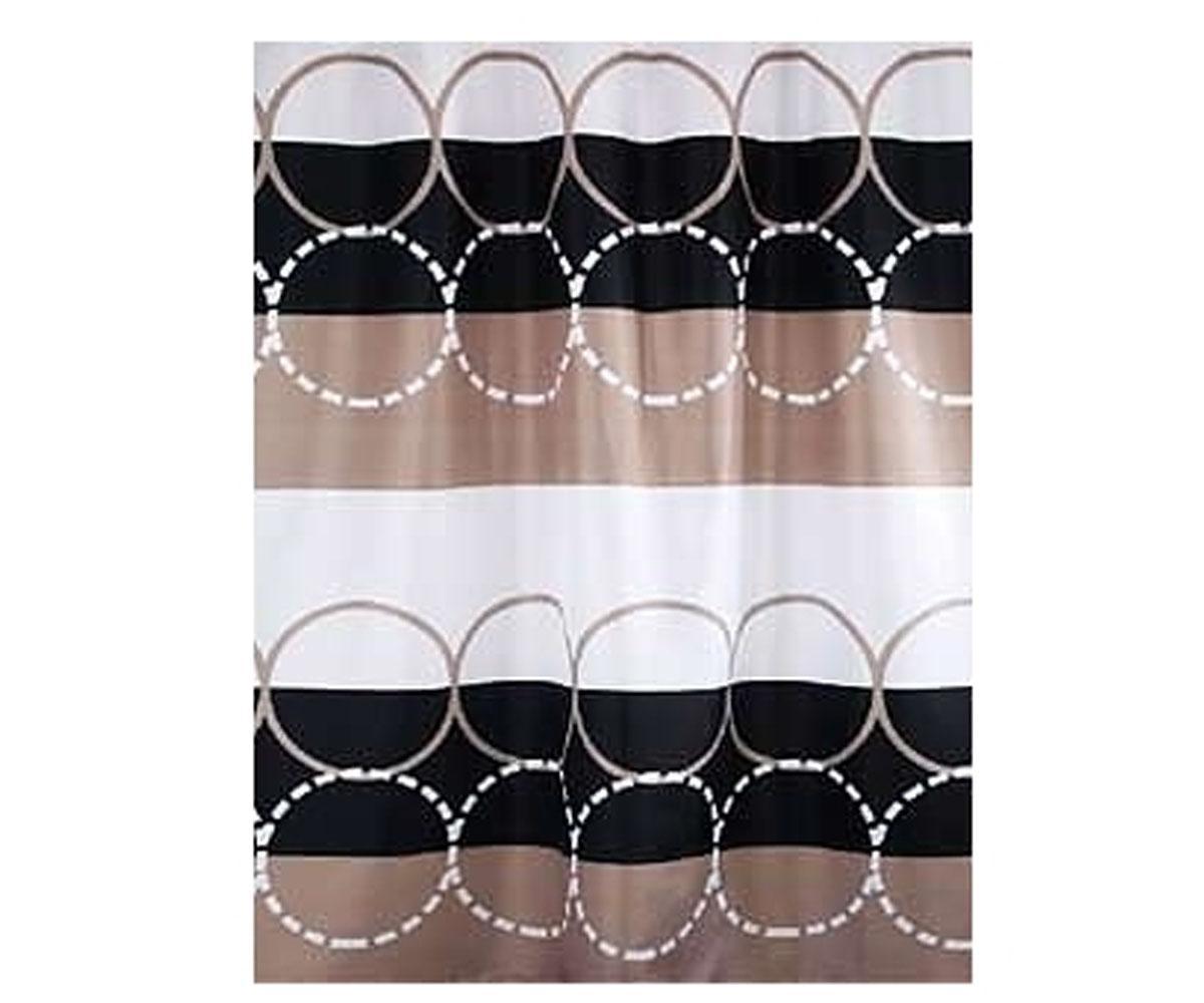 Шторка для ванны BISK CIRCLE 180х200см, текстиль (04438)