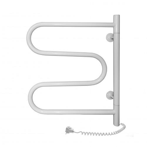 Полотенцесушитель электрический SANTAN Змеевик 500х600 белый, поворотный