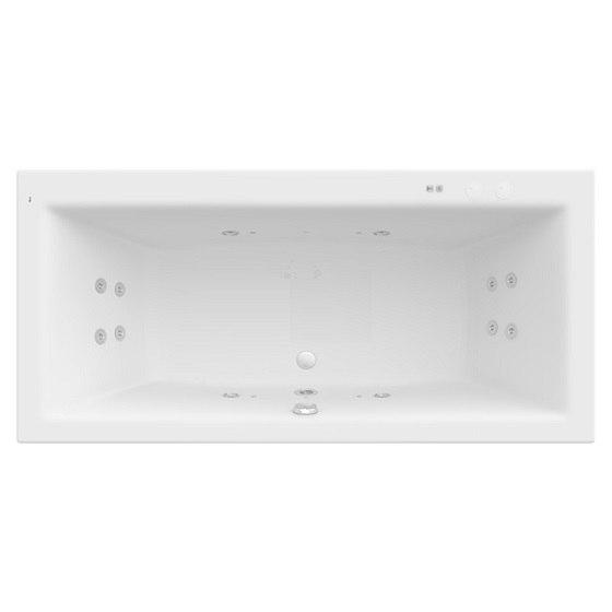 Ванна акриловая ROCA Vita 190х90 с гиромассажем Smart Water Plus на раме (A24T093000)