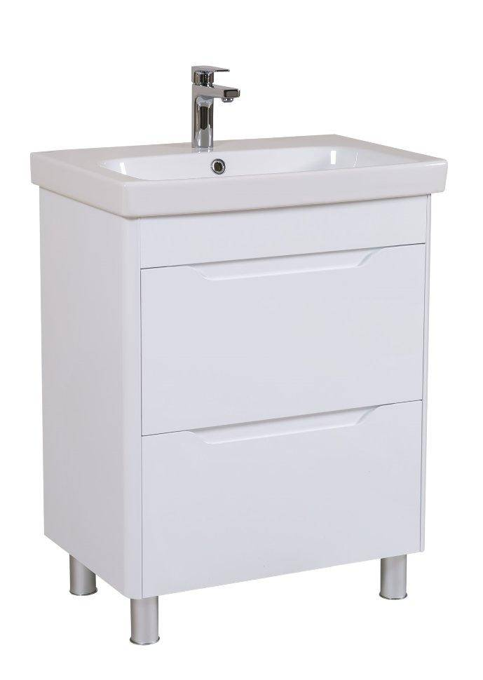 КОМПЛЕКТ: Шкафчик Aquarodos Рома с умывальником Roma 85 см