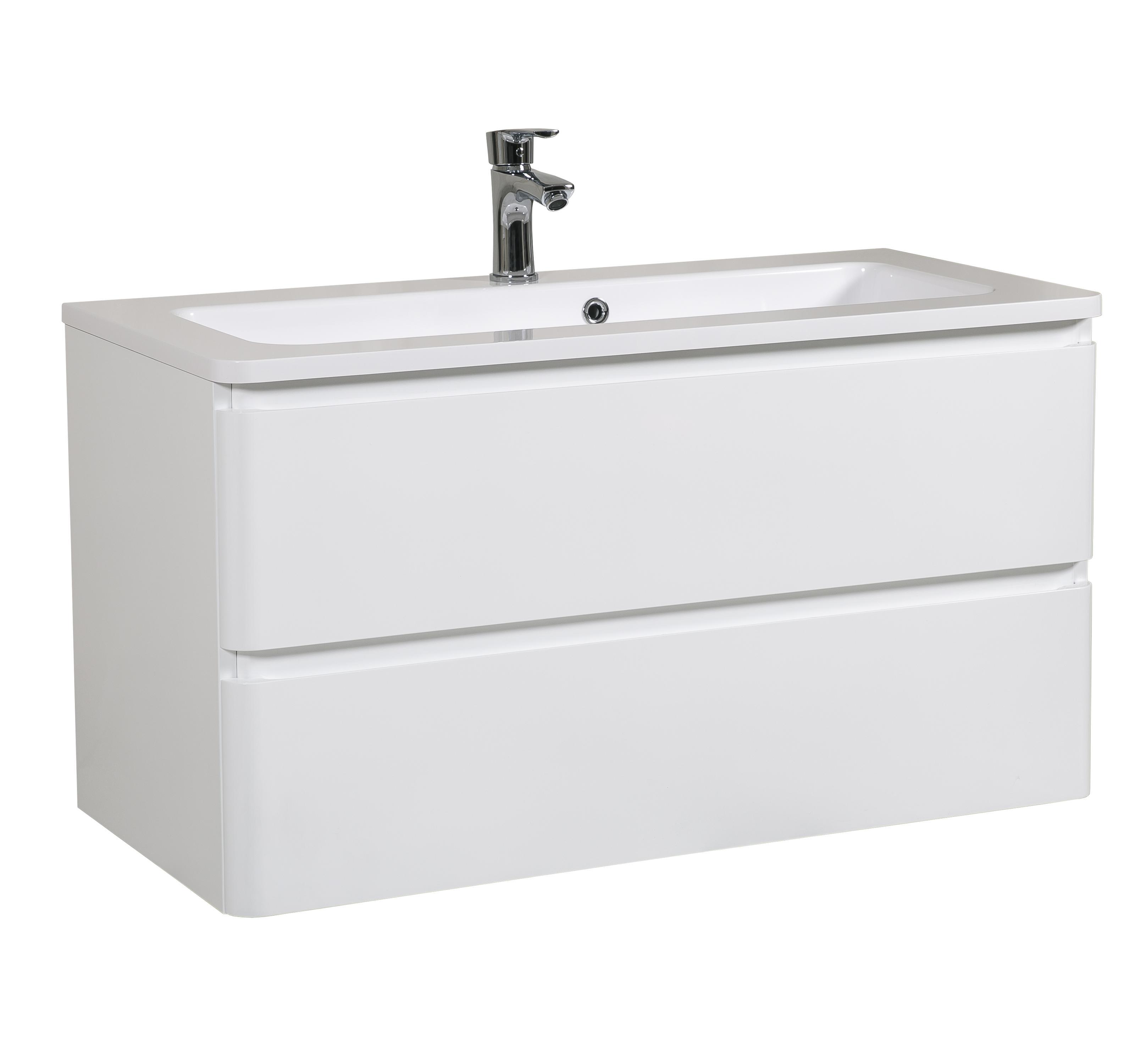 Мебель Aquarodos Акцент с умывальником Альфа 100 см (консольная)