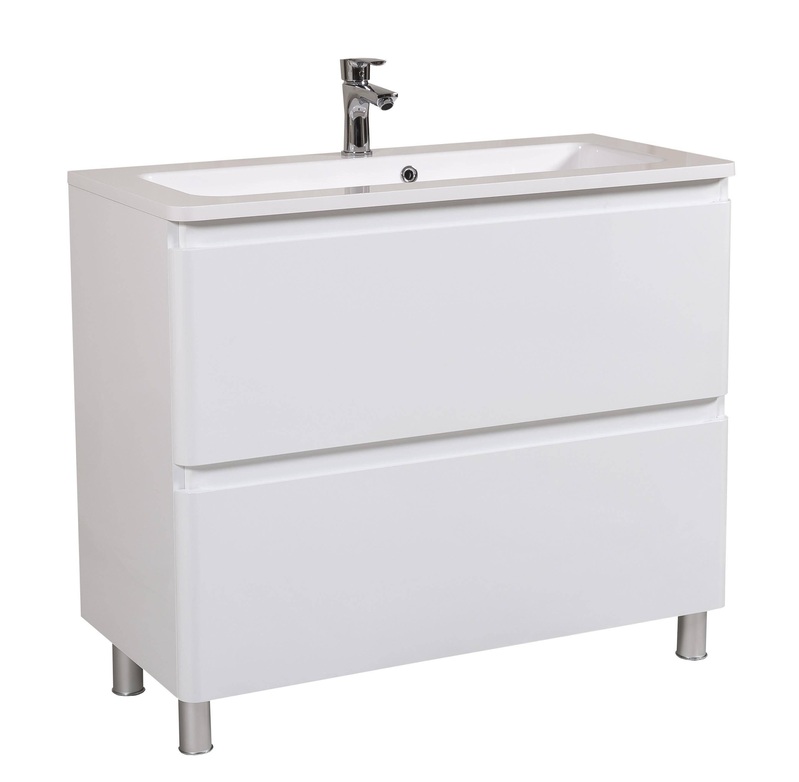 Мебель Aquarodos Акцент с умывальником Альфа 100 см (напольная)