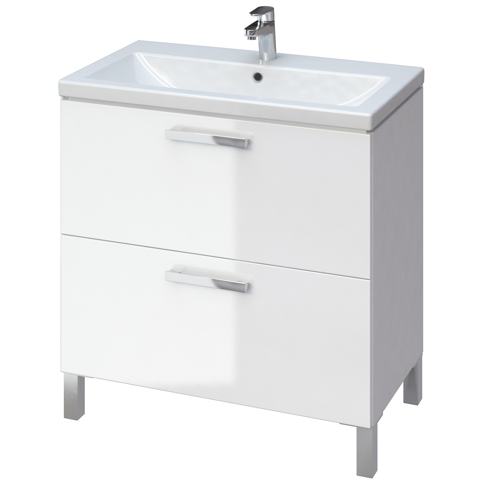 Шкафчик CERSANIT MELAR + раковина COMO 80, белый