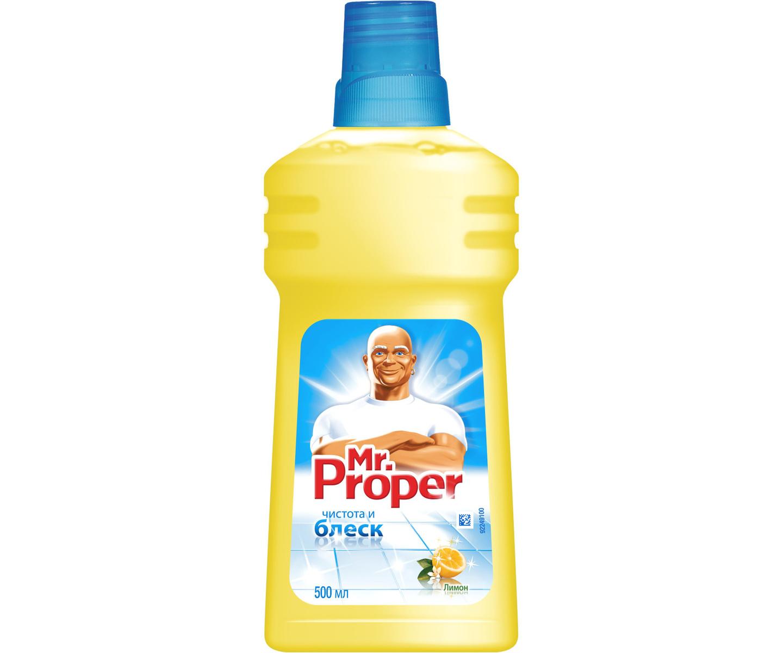 Средство для мытья полов Mr.Proper 500 мл, Лимон
