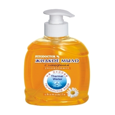 Жидкое мыло с дозатором ЭФФЕКТ 300 мл, с глицерином Ромашка, увлажняющее