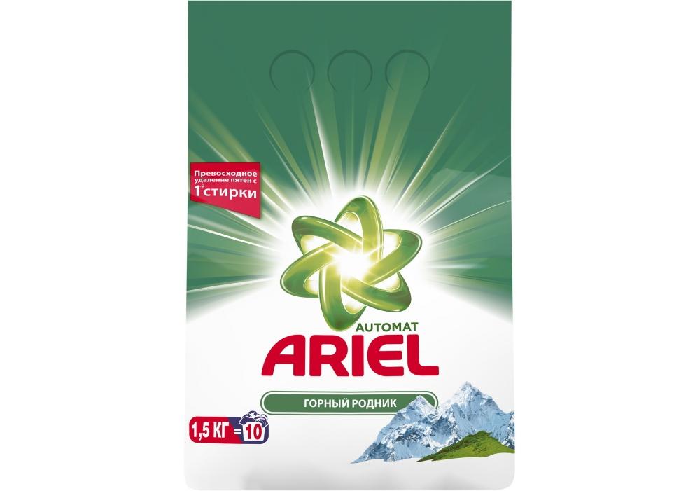 Стиральный порошок ARIEL Automat Гірське джерело 1,5кг