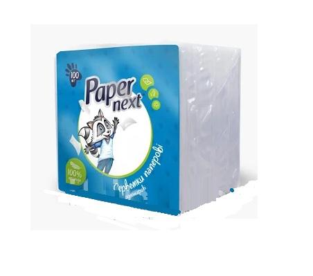 Салфетки бумажные ЕНОТ Paper next 100 шт, белые