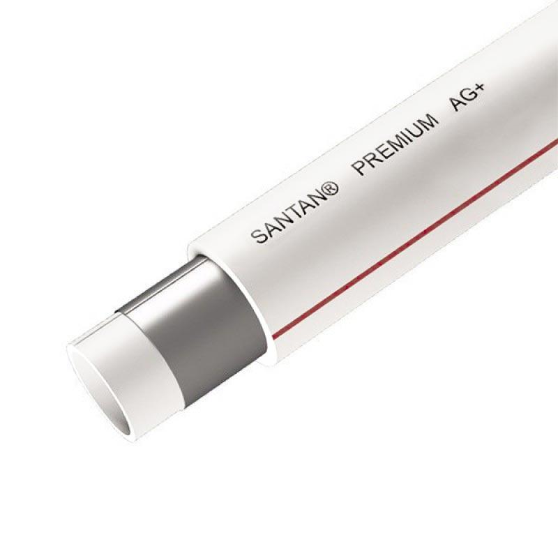 PPR труба SANTAN Premium Composite 20 мм белая