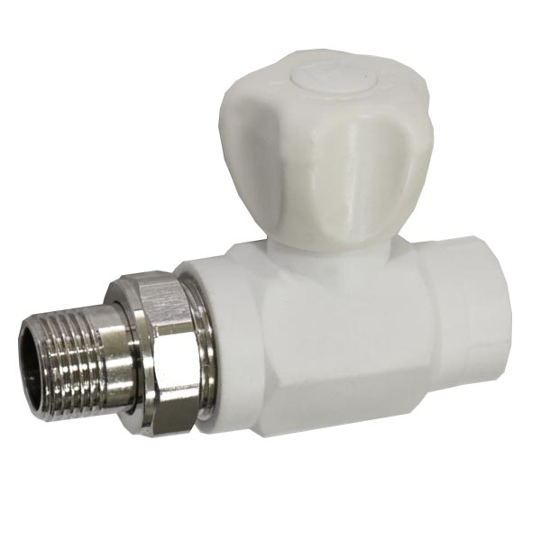 Кран радиаторный PP-R SANTAN прямой шаровый с нак.гайкой 25х3/4