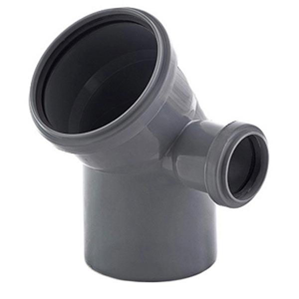 Колено Uniplast 110х50х45° правое