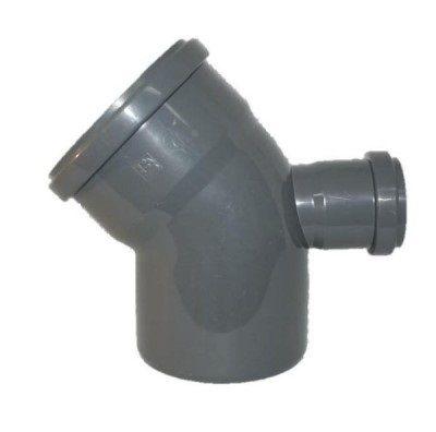 Колено Uniplast 110х50х45° сзади