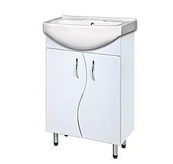 Шкафчик с умывальником Изео 55+ум.Изео 55 белый
