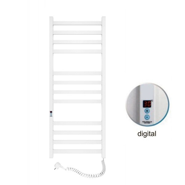 Полотенцесушитель электрический SANTAN Лестница Авангард 480х1200 белый, правосторонний digital, таймер