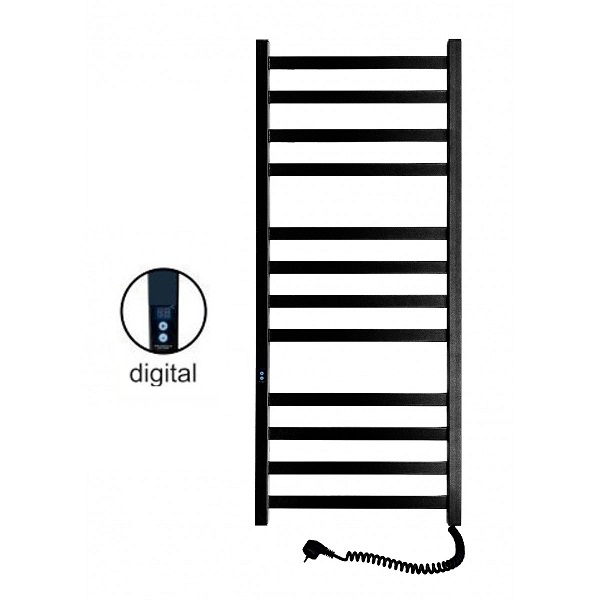 Полотенцесушитель электрический SANTAN Лестница Авангард 480х1200 черный, правосторонний digital, таймер