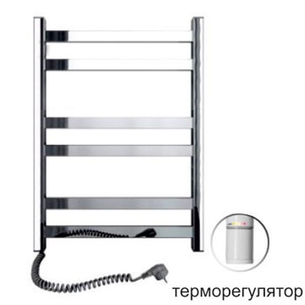 Полотенцесушитель электрический SANTAN Лестница Авангард 480х600 нерж., левосторонний, с терморегулятором
