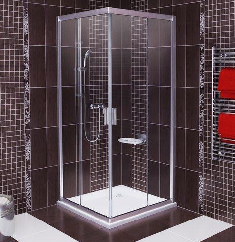 Душевая дверь RAVAK BLRV2K-90, профиль сатин, квадрат, стекло Transparent (1XV70U00Z1)