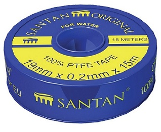Фум лента SANTAN PROFI, синяя 19 мм*0,2 мм*15 м