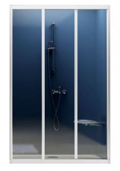 Двери для душевых кабин RAVAK ASDP 3-130  профиль белый, пластик Pearl (00VJ010211)