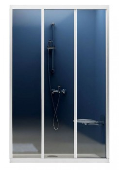 Двери для душевых кабин RAVAK ASDP 3-100  профиль белый, пластик Pearl (00VA010211)
