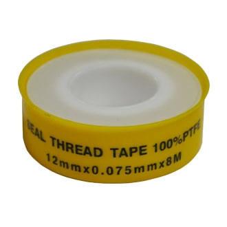 Фум лента WIANGI желтая 12 мм*0,075 мм*8 м