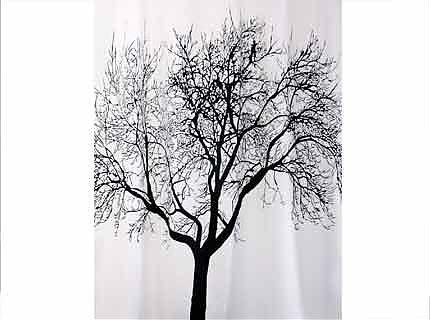 Шторка для ванны BISK TREE черная 180х200см  (04440)