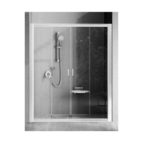Душевая дверь RAVAK BLDP 4-170, профиль белый, стекло Grape (0YVV0100ZG)