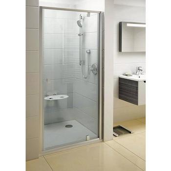 Душевые двери RAVAK PDOP 1-90, профиль сатин, стекло Transparent 90х190 см