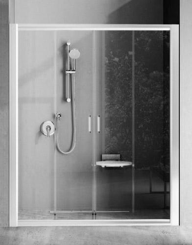 Душевые двери RAVAK BLDP 4-180, профиль белый, стекло Transparent (0YVY0100Z1)