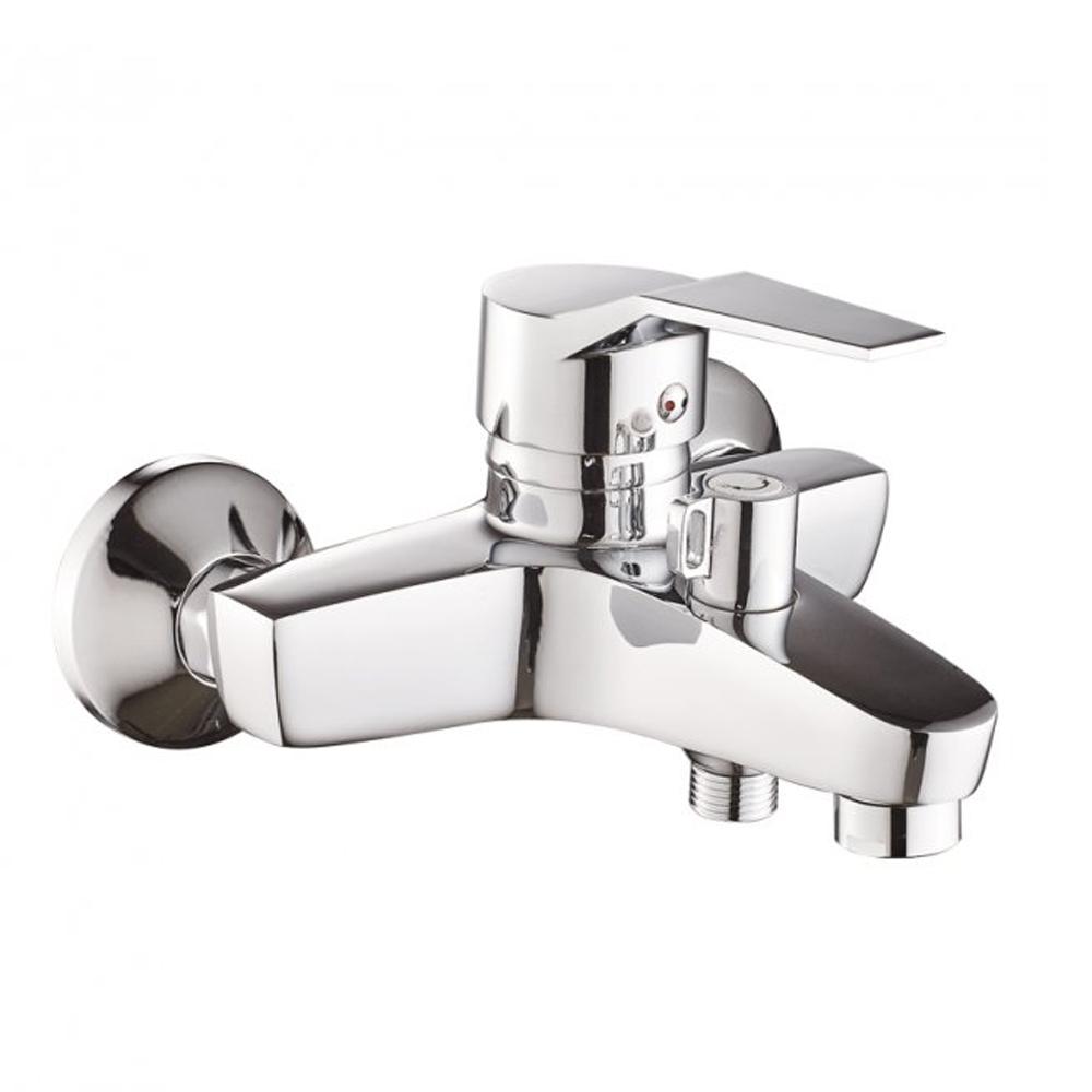 Смеситель для ванны 102 Haiba ZEON 009 c коротким изливом  и душевой лейкой  (HB0774)
